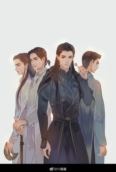 Anime Guys, Manga Anime, Anime Art, Best Anime Drawings, Art Drawings, Character Art, Character Design, Character Ideas, Shen Wei