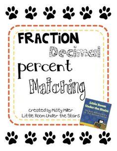 Math: Fraction, Decimal, Percent Match $
