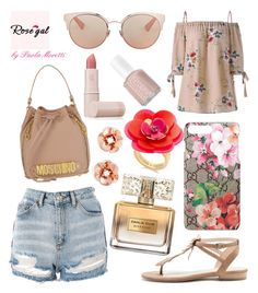 """""""Rosegal Style by Paola Moretti Paola"""" by paola-moretti on Polyvore featuring Topshop, Sole Society, Moschino, Givenchy, Gucci, Kate Spade, Christian Dior, Lipstick Queen and Essie"""