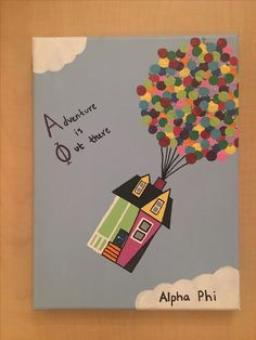 Big Little sorority canvas craft Alpha Phi Up