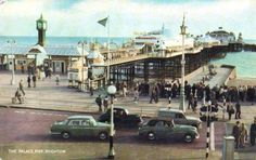 Vintage Postcard of the Palace Pier, Brighton Brighton Rock, Brighton And Hove, Images Of England, British Seaside, Seaside Towns, Celebrity Travel, East Sussex, Great Britain, Vintage Photos