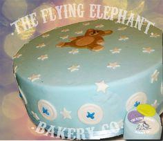 Bear cake for baby shower. With mini cake. Fondant