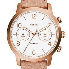 Caiden Multifunction Sand Leather Watch