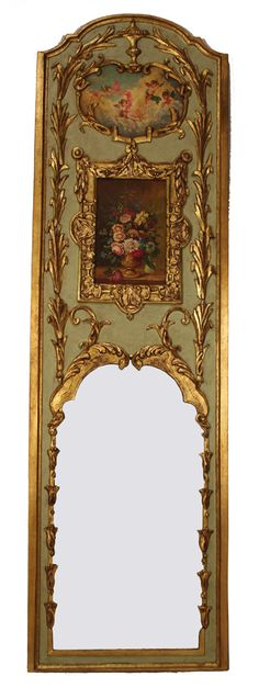 Period Louis XV Trumeau Mirror    Schitteren,,,,, Would love to have this.  TG