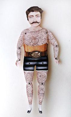 Conheça Crankbunny e seu mundo mágico de bonecos de papel tatuados.