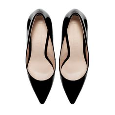 SYNTHETIC PATENT LEATHER COURT SHOE