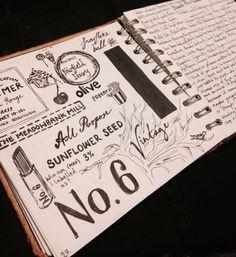 Sketchbook work - Lettering and packaging Scrapbook Cards, Scrapbooking, Lush, Packaging, Lettering, Gifts, Design, Presents, Scrapbooks