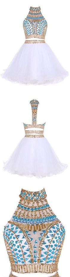 2 PIECES HOMECOMING DRESS, A-LINE SHORT/MINI SHORT PROM DRESS HOMECOMING DRESS KMY011