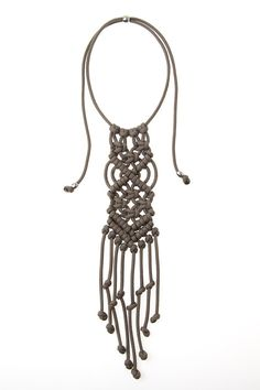This chunky Macrame Statement necklace is not for your average girl.  Wearing it will confirm that yes, you are indeed...