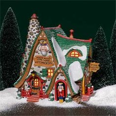Hand Carved Nutcracker Factoy -NEW Department Dept 56 North Pole Village Christmas In The City, Christmas Town, Christmas Carol, Christmas Crafts, Christmas Decorations, Nutcracker Christmas, Christmas Gingerbread, Gingerbread Houses, Christmas Themes