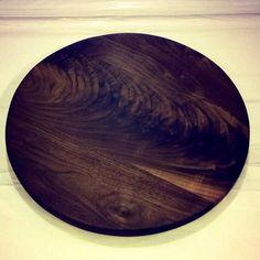 Circular Dark Walnut Cutting Board Round Cutting by SodaCreek