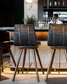 Marsh House Restaurant by Parts and Labor Design Back Bar Design, Lounge Design, Bar Lounge, Resturant Interior, Restaurant Interior Design, Architecture Restaurant, House Restaurant, Bar Chairs, Bar Stools