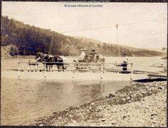 Crossing the Kennebec in Bingham, Maine - 1904