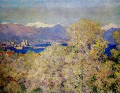 Antibes - View of the Salis Gardens by @claude_monet #impressionism
