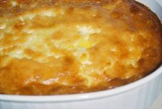 Southern Corn Pudding? Creamy delicious.