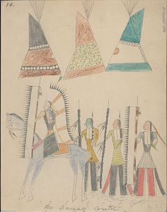 Collections Search Center, Smithsonian Institution. Book of drawings by unidentified Cheyenne artist at Fort Marion, Florida, 1875 August.