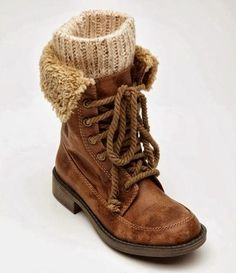 Comfy Brown Wheeler Boots
