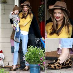 Street-Style Star Miranda Kerr Spices Up a Sweater and Jeans
