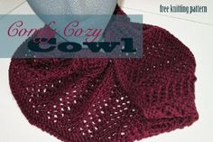 Be transported to another time and place whenever you wear this Red Royalty Cowl.  Designed with both warmth and style in mind, this classic knit cowl pattern offers a sneak peek into a life of pure luxury.  Knit with simple yarn overs and slipped st