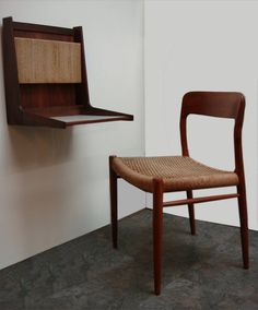 Vintage Mid Century Cado Style desk and Moller Chair