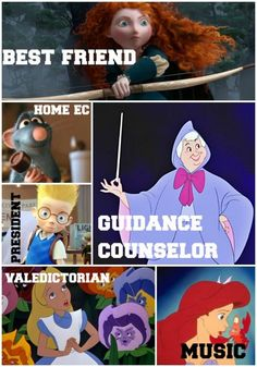What 20 Disney Characters Would be Like at School