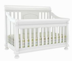 Creations Baby Summer's Evening Sleigh Crib White