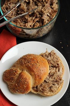 Looking for a simple yet flavorful way to cook pork? Combine a homemade rub with a cheap cut of pork and cook it slowly in the slow cooker for a fantastic filling for sandwiches, lettuce wraps, and tacos.  Best Ever Slow Cooker Pulled Pork http://goodcheapeats.com/2015/05/best-ever-slow-cooker-pulled-pork/