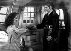 "the black swan 1942 | Maureen O'Hara and Tyrone Power in ""The Black Swan"" (1942)"