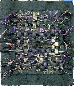 Purple Majesty:  mixed media paper weaving  Nancy Curry
