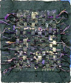 Purple Majesty: mixed media paper weaving Nancy Curry