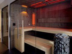 Stonewashed oak infrared sauna by VSB Wellness - Infrarood stonewashed eiken sauna gemaakt door VSB Wellness Sauna Design, Gym Design, House Design, Design Homes, Infrarot Sauna, Sauna Heater, Saunas, Piscina Spa, Ecuador