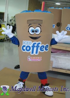 Dunkin' Donuts Iced Coffee cup mascots