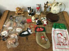 20 Vintage Cat Christmas Ornaments #Christmas