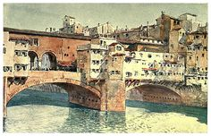 019- Ponte Vecchio-Florencia-Sketches on the old road through France to Florence-1905- Alexander Henry Hallam Murray