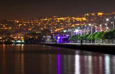 Thessaloniki seaside by night