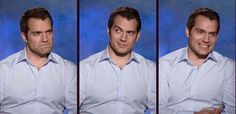 """The 3 Silly Faces of Cavill"" should be the title of this photo...lol!! :)"