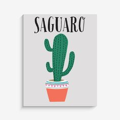"""With an effortless modern style, Lucy Darling offers a high-quality """"Saguaro"""" southwest cactus art print designed to help celebrate life's darling moments. • Pe"""
