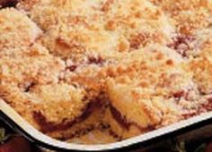 Recipe For Strawberry-Rhubarb Coffee Cake | Bed and Breakfast Inns | BBOnline.com