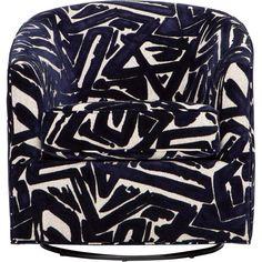 Krew Swivel Chair, 300322-48                              – High Fashion Home Swivel Recliner, Swivel Glider, Black And White Chair, Glider Chair, High Fashion Home, Cat Furniture, Chair Fabric, Seat Cushions, Bedroom Decor