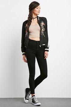Jeans Skinny Deslavados | Forever 21 - 2000237469
