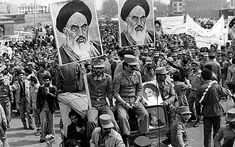 The Iranian Islamic Republic Army demonstrates in solidarity with people in the street during the Iranian revolution