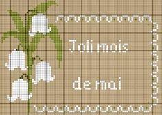 fleur- flower - plant - broderie - embroidery - muguet - Les chroniques de Frimousse - Point de croix - Blog : http://broderiemimie44.canalblog.com/