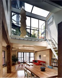 new york loft / tons of windows & natural lighting. My dream place City Living, Living Spaces, New Yorker Loft, Ny Loft, Warehouse Living, Loft Stil, Interior Architecture, Interior Design, Loft Interiors