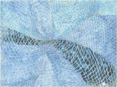 """In Netz gegangen I"", 2000 // Marcel Odenbach (German, born 1953) // #art #painting #abstract"
