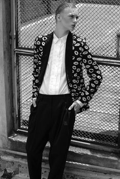 """Dominik Sadoch in """"Boys on Top"""" Photographed and Styled by Aiman Kurmanova for Vintage Magazine #6"""