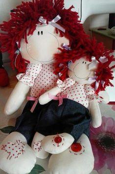 Bonequinha de pano Mamãe bebê