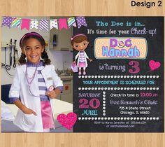 Doc McStuffins Birthday Invitation W Photo McStuffin Party Printable Invite For Girl