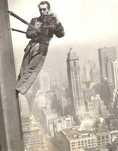 Empire State Window Washer Cameraman, 1936. S)
