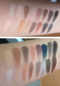 Lorac Pro and Lorac Pro 2 palettes: swatches  Gorgeous colors. Love the shimmers and how foiled and buttery they look...