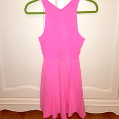 BRAND NEW PINK DRESS Brand new American eagle pink dress! Super cute for any occasion! The back has a cool open design, which makes it the dress some flare! American Eagle Outfitters Dresses